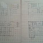 大工さん用に図面を図板に書けました