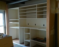 キッチンの棚も家具家さんのように出来ました。