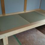 小上り畳のベッド完成
